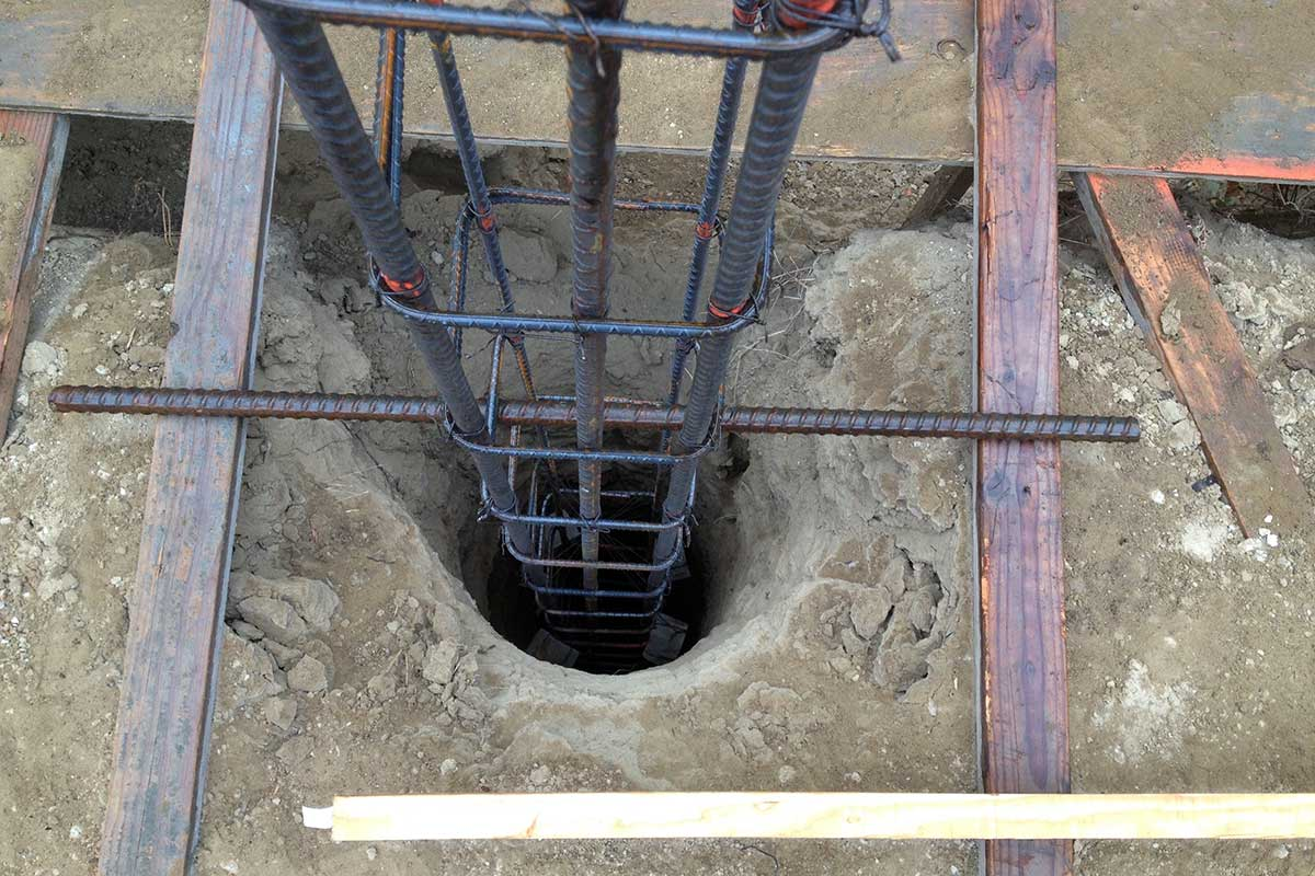 Rebar Cage Set for Concrete Pour