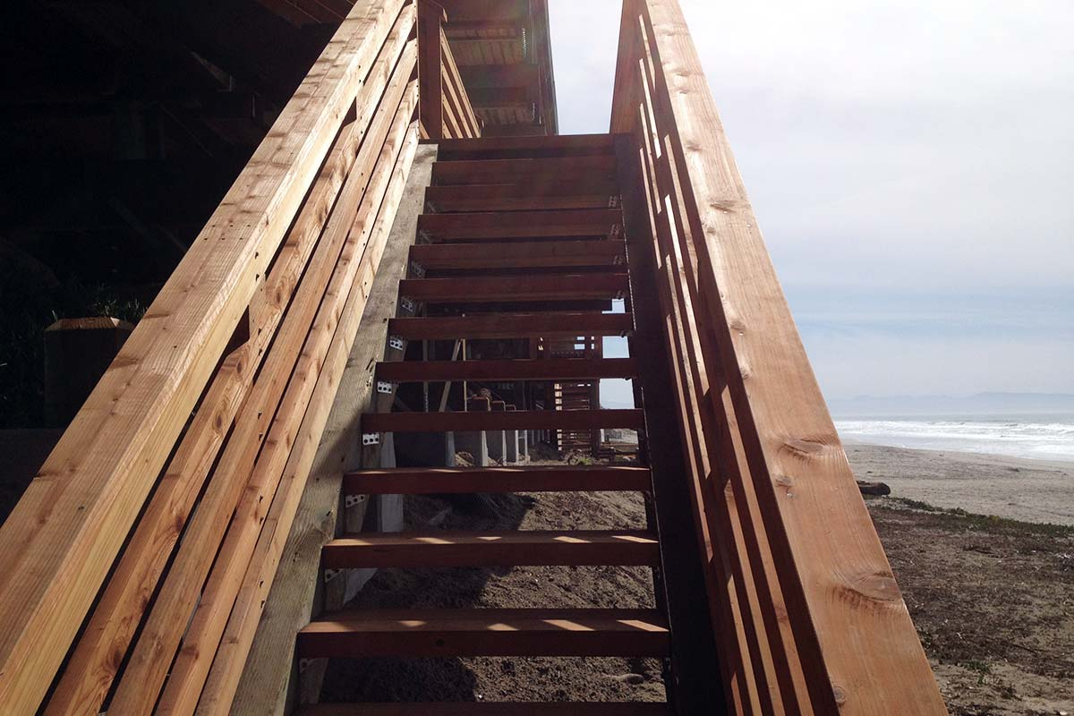 Completed Helical Supported Exterior Stair