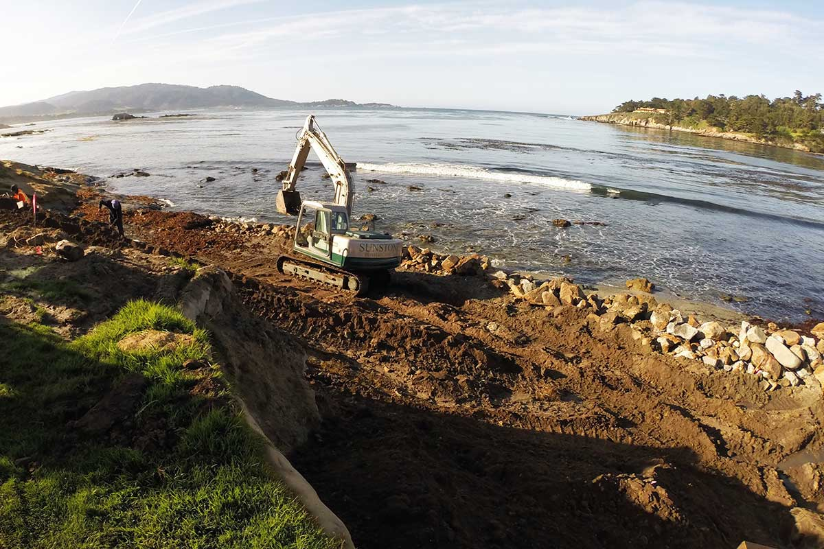 Coastal Project Seawall Site Monterey County