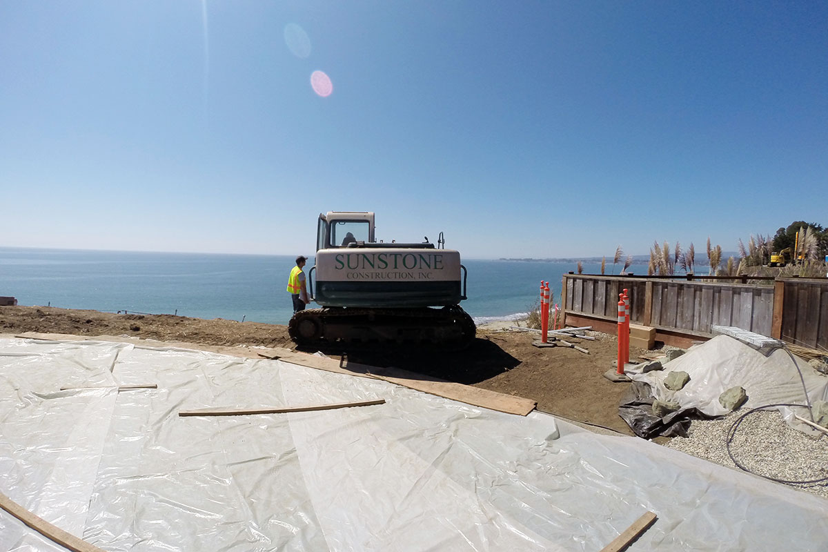 Coastal Seawall Project Site Santa Cruz County
