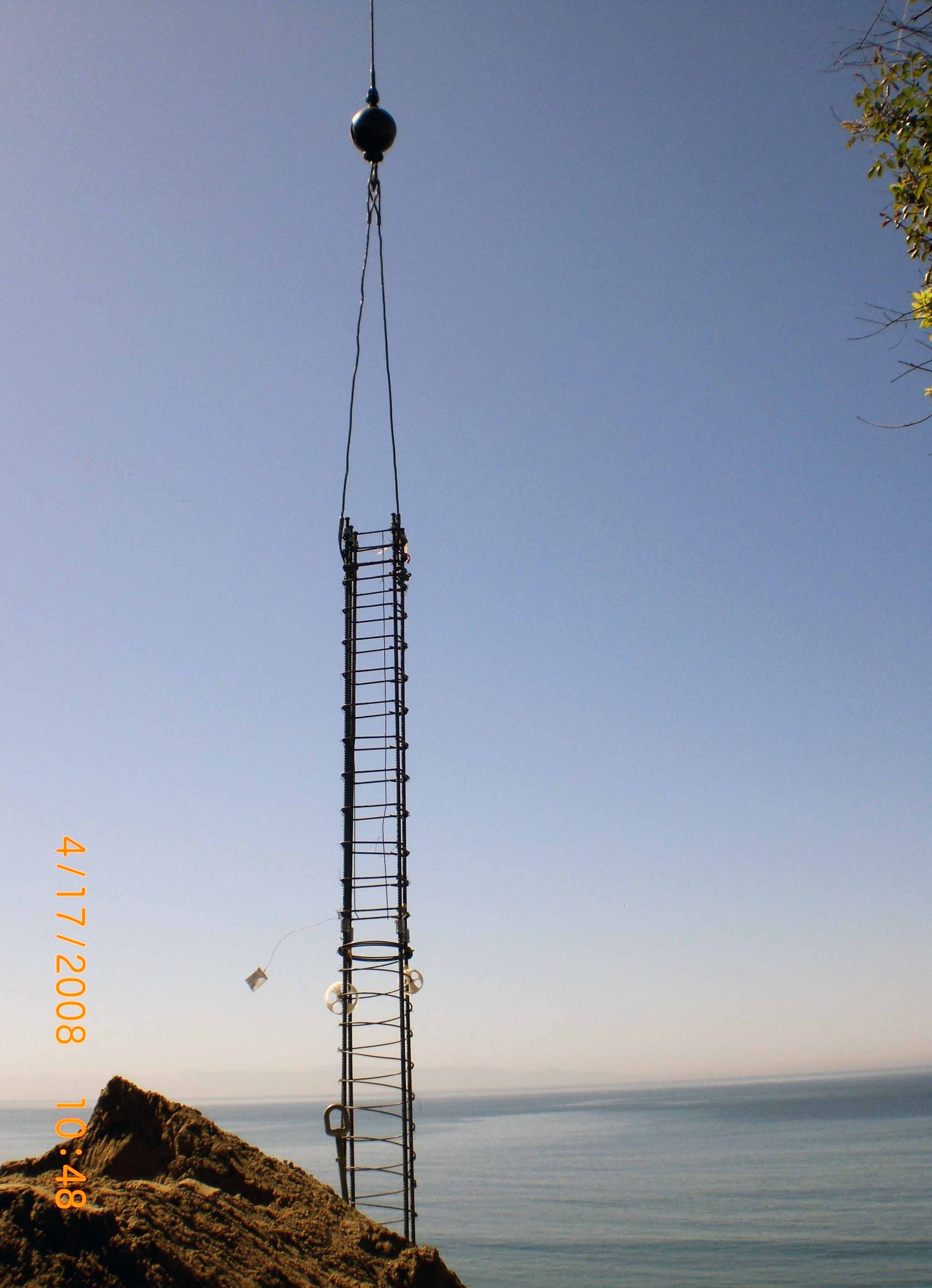 Craning Rebar Cages Santa Cruz County