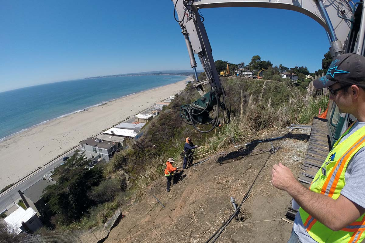 Helical with Mesh Slope Repair Santa Cruz County