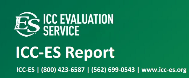 ICC Evaluation Service Report